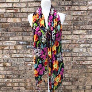 Vera Bradley orange/pink floral scarf, GUC